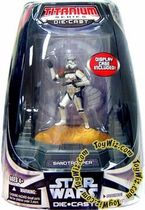 Star Wars Titanium Series Diecast 3 3/4 Figure Limited Edition Sandtrooper [Full Color Finish]