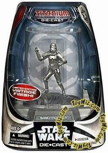 Star Wars Titanium Series Diecast 3 3/4 Figure Limited Edition Sandtrooper (Vintage Finish)