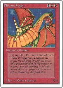 Magic the Gathering Unlimited Edition Single Card Rare Shivan Dragon