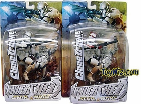 Star Wars Unleashed Series 7 Action Figure Clone Trooper Set of 2