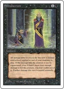 Magic the Gathering Unlimited Edition Single Card Uncommon Simulacrum