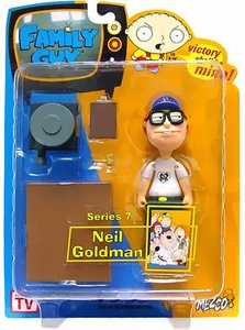 Family Guy Mezco Series 7 Action Figure Neil Goldman (White Shirt) Variant