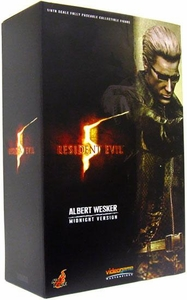 Resident Evil 5 Hot Toys Video Game Masterpiece 12 Inch Deluxe Figure Albert Wesker [Midnight Version]