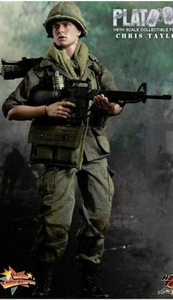 Platoon Hot Toys Movie Masterpiece 1/6 Scale Collectible Figure Chris Taylor [Charlie Sheen]