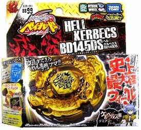 Beyblades JAPANESE Metal Fusion Battle Top Starter #BB99 Hell Kerbecs MR145DS [Includes Light Launcher!]