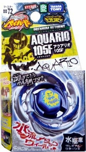 Beyblades JAPANESE Metal Fusion Battle Top PREMIUM RETURNS Booster #BB72 Aquario 105F BLOWOUT SALE!