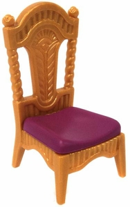 Playmobil LOOSE Accessory Gold Chair with Magenta Cushion