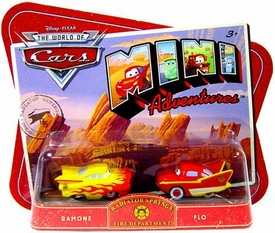 Disney CARS Mini Adventures Radiator Springs Fire Dept. Ramone & Flo