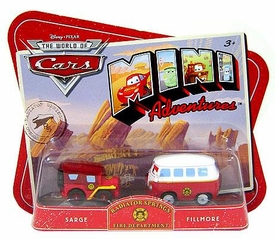 Disney CARS Mini Adventures Radiator Springs Fire Department Sarge & Fillmore
