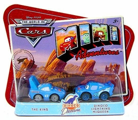 Disney CARS Mini Adventures Dinoco Dream Team King & Dinoco Lightning McQueen