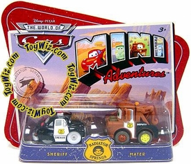 Disney CARS Mini Adventures Radiator Springs Sheriff & Mater