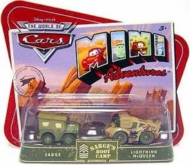 Disney CARS Mini Adventures Sarge's Boot Camp Sarge & Lightning McQueen [Camo]