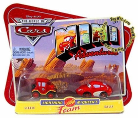 Disney CARS Mini Adventures Lightning McQueen's Team Lizzie & Sally