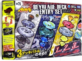 Beyblades JAPANESE Metal Fusion Deck Entry Set #BB75 [Cyber Pegasus, Virgo & Orso]