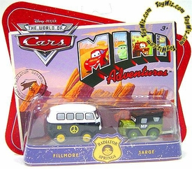 Disney CARS Mini Adventures Radiator Springs Fillmore & MP Sarge