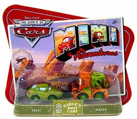 Disney CARS Mini Adventures Sarge's Boot Camp Sally & Mater