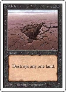 Magic the Gathering Unlimited Edition Single Card Common Sinkhole