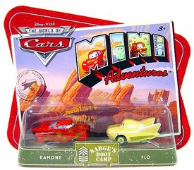 Disney CARS Mini Adventures Sarge's Boot Camp Ramone & Flo