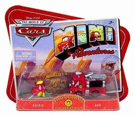 Disney CARS Mini Adventures Radiator Springs Fire Department Guido & Red