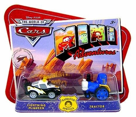 Disney CARS Mini Adventures Radiator Springs Lightning McQueen & Tractor