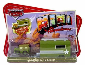 Disney CARS Mini Adventures Sarge With Motorized Trailer
