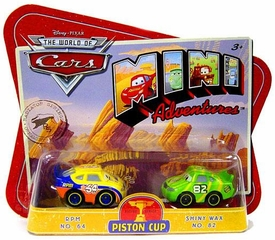 Disney CARS Mini Adventures Piston Cup RPM No. 64 & Shiny Wax No. 82