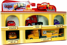 Disney CARS Mini Adventures 6-Pack Gift Set Piston Cup [Lightning McQueen, Mack Semi, N2O Cola, Octane Gain & Octane Gain Hauler]