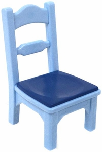Playmobil LOOSE Accessory Blue Chair with Dark Blue Cushion
