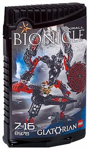 LEGO Bionicle GLATORIAN Figure #8978 Skrall [Black]