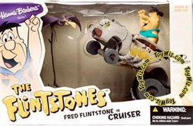 McFarlane Toys Hanna Barbera Series 1 Action Figure Deluxe Boxed Set Fred Flintstone Cruiser BLOWOUT SALE!