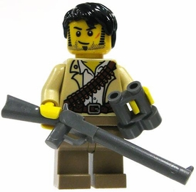 LEGO Pharaoh's Quest LOOSE Mini Figure Jake Raines with Rifle and Binoculars