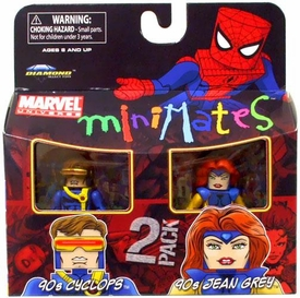 Marvel Minimates Series 34 Mini Figure 2-Pack 90s Cyclops & 90s Jean Grey
