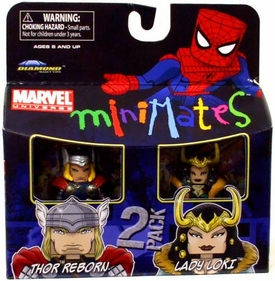 Marvel Minimates Series 33 Mini Figure 2-Pack Thor Reborn & Lady Loki