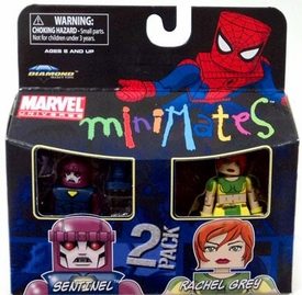 Marvel Minimates Series 33 Mini Figure 2-Pack Sentinel & Rachel Grey [Marvel Girl]