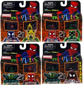 Marvel MiniMates Series 30 Set of 4 Mini Figure 2-Packs [Includes Variant Ultimate Spider-Woman]