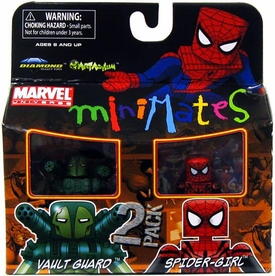 Marvel Minimates Series 30 Mini Figure 2-Pack Vault Guard & Spider-Girl