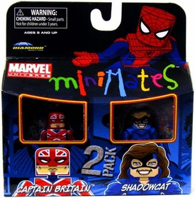 Marvel Minimates Series 31 Mini Figure 2-Pack Captain Britain & Shadowcat (Kitty Pryde) [Classic Costume]