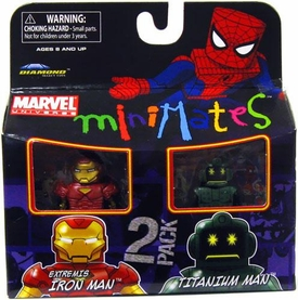 Marvel Minimates Series 32 Mini Figure 2-Pack Extremis Iron Man & Titanium Man