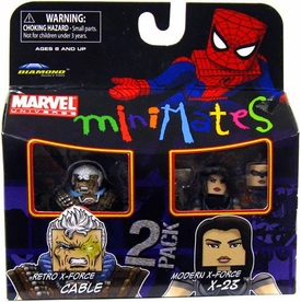 Marvel Minimates Series 32 Mini Figure 2-Pack Retro X-Force Cable & Modern X-Force X-23