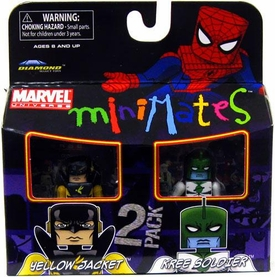 Marvel Minimates Series 32 Mini Figure 2-Pack Yellow Jacket & Kree Soldier