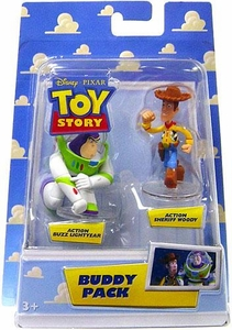 Disney / Pixar Toy Story Mini Figure Buddy 2-Pack Action Buzz Lightyear & Action Sheriff Woody