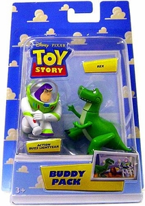 Disney / Pixar Toy Story Mini Figure Buddy 2-Pack Action Buzz Lightyear & Rex