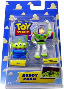 Disney / Pixar Toy Story Mini Figure Buddy 2-Pack Alien & Flyin Buzz Lightyear