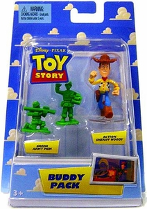Disney / Pixar Toy Story Mini Figure Buddy 2-Pack Green Army Men & Action Sheriff Woody