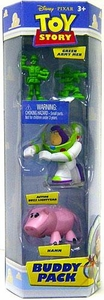Disney / Pixar Toy Story Mini Figure Buddy 3-Pack Green Army Men, Action Buzz Lightyear & Hamm