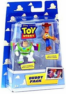 Disney / Pixar Toy Story Mini Figure Buddy 2-Pack Quick-Draw Sheriff Woody & Space Ranger Buzz Lightyear