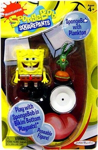 SpongeBob Squarepants Mini Action Figure Spongebob with Plankton