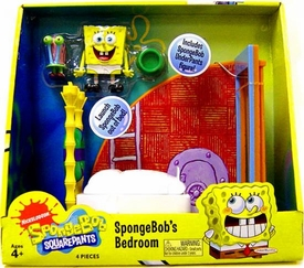 SpongeBob Squarepants Playset Spongebob's Bedroom [Includes Mini Spongebob UnderPants Figure!]