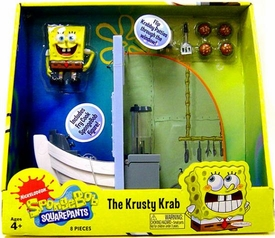 SpongeBob Squarepants Playset The Krusty Krab [Includes Mini Fry Cook Spongebob Figure!]