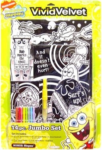 SpongeBob Squarepants Activity Set Jakks Pacific Vivid Velvet 14 Piece Jumbo Set [Xtra-Large]